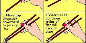 How to use chopsticks.
