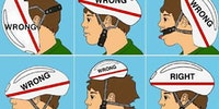 How to properly wear a helmet.