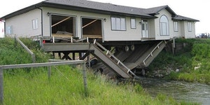 House vs. bridge.