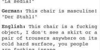 The thing about chairs...