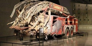 One of the first Firetrucks that showed up at the World Trade Center.
