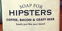 Hipsters use soap?