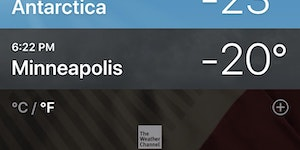 3° difference between Minneapolis and Antarctica #bringbackglobalwarming