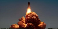 KFC chicken as space shuttle launch smoke.