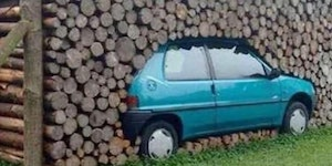 This guy stacks wood.