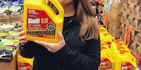 Bindi Irwin finds an interesting lawn care product.