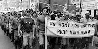 Protesting war circa 1970-2020