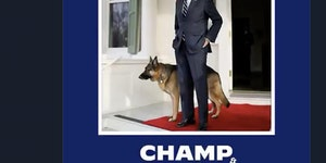 Champ answers the call of doggy.