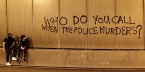 HK graffiti asking a poignant question.