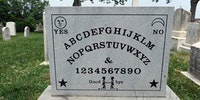 Gravestone of Elija Bond, Inventor of the Ouija Board.