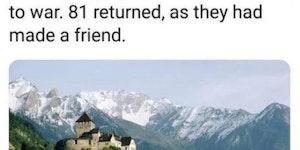 Liechtenstein's military is highly effective.